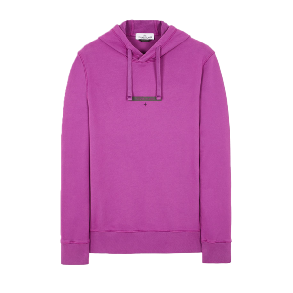 Stone Island Brushed Cotton Fleece Sweatshirt Magenta Men MO751565685-V0045