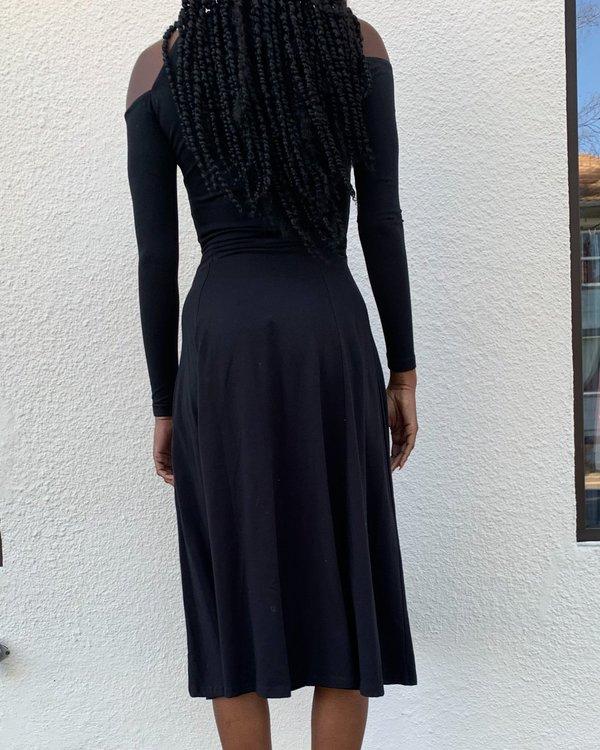 Vintage Banshee Cutout Dress - Black