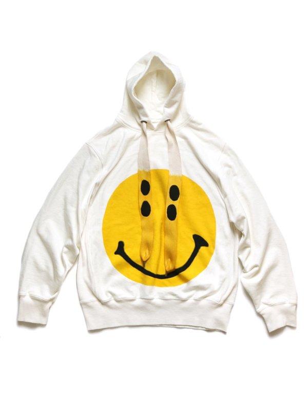 Unisec Kapital Fleece Knit RAIN SMILE Hoodie - White
