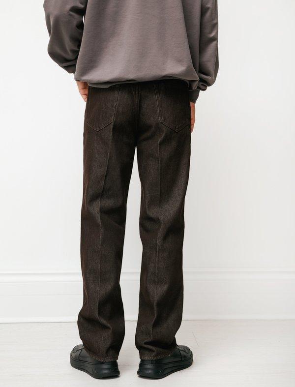 Auralee Hard Twist Denim 5P Pants - Brown
