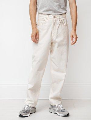 Auralee Organic Cotton Slub Duck Wide Pants - Natural