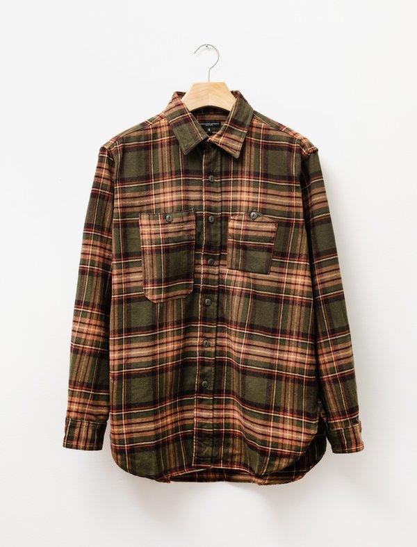Engineered Garments Work Shirt - Olive/Brown Plaid