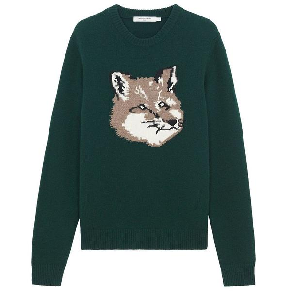 Big Fox Head Pullover 'Dark Green'