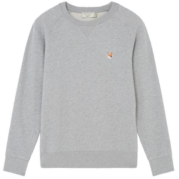 Fox Head Patch Classic Sweatshirt 'Grey Melange'