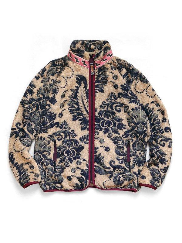 Kapital DAMASK Fleece ZIP Blouson Virgin Mary Jacket - Biege