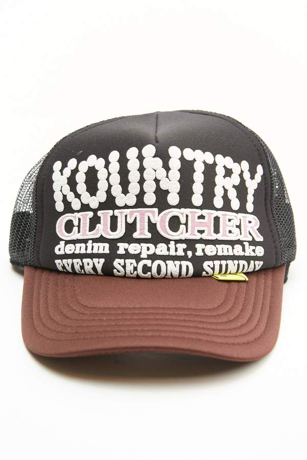 Kapital KOUNTRY PEARL CLUTCHER Trucker Cap - Black/Brown