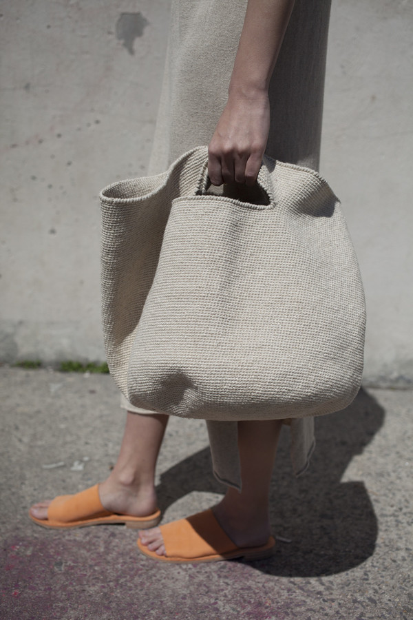 Lauren Manoogian Crochet Bowl Bag In Crudo Garmentory
