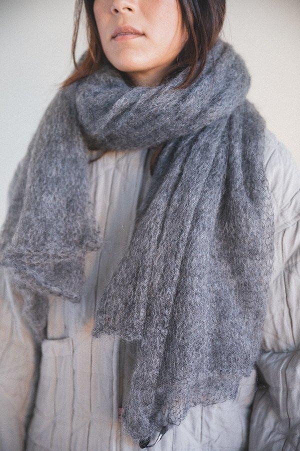 Sara Lanzi Mohair Scarf - Grey