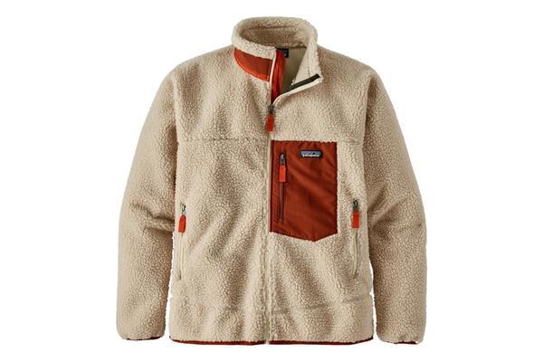 Patagonia Classic Retro-X Fleece Jacket - Natural Barn/Red