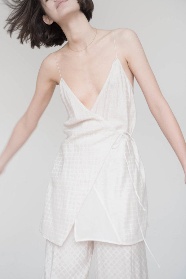 fd603fa406f0 Index Series Annecy Wrap Slip Dress. sold out. Index Series