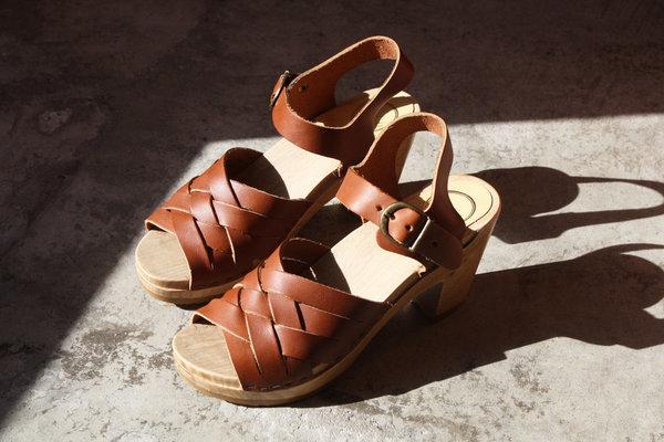 fa1416724f60 No.6 Huarache Clog on High Heel in Maple