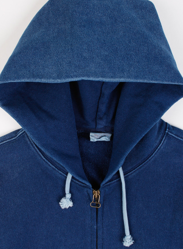 7ddfbe599 Champion Reverse Weave Full Zip Hoodie Indigo Overdye