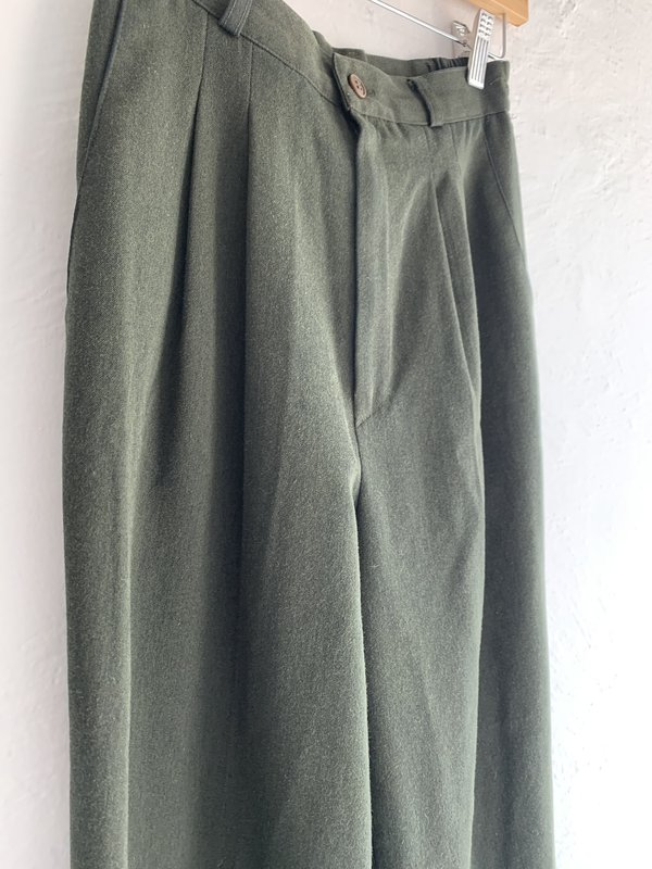Vintage Trousers - Olive