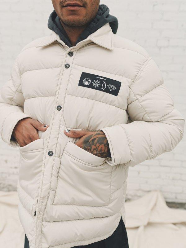 PHIPPS Down Puffer Doudoune Shirt Jacket - Ecru