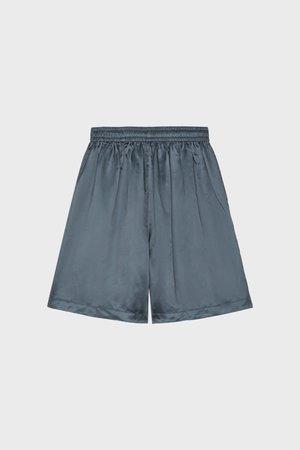 PHIPPS Cupro Lounge Shorts - Marine Blue