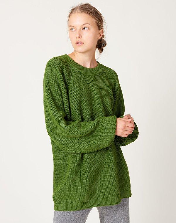 Unisex Kowtow Fisherman Crew sweater - Grass
