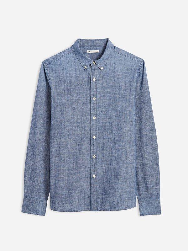 O.N.S Fulton Chambray Shirt - Mid Indigo