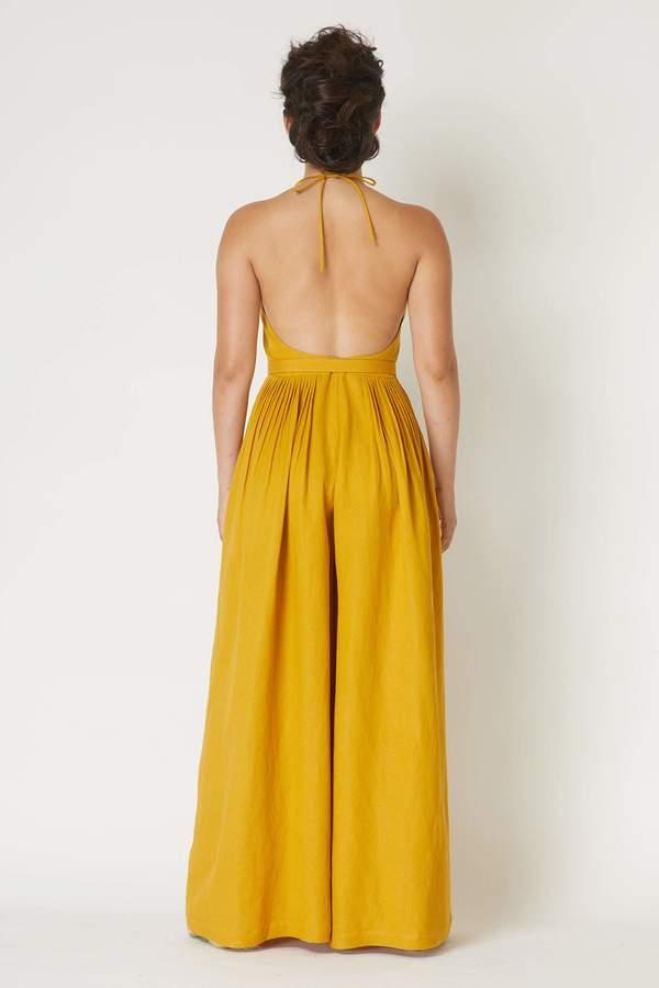 Marie Jumpsuit in Solid Linen