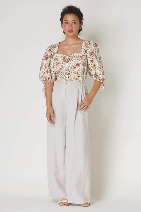 Zhenya Blouse in Floral Cotton Poplin