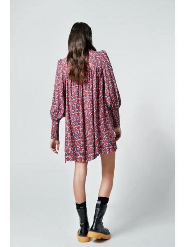 Smythe Mini Dress/Tunic - Scarlet Floral