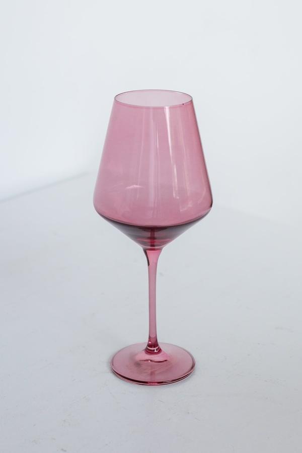 Estelle Colored Glass Set of 6  Wine Stemware - Rose