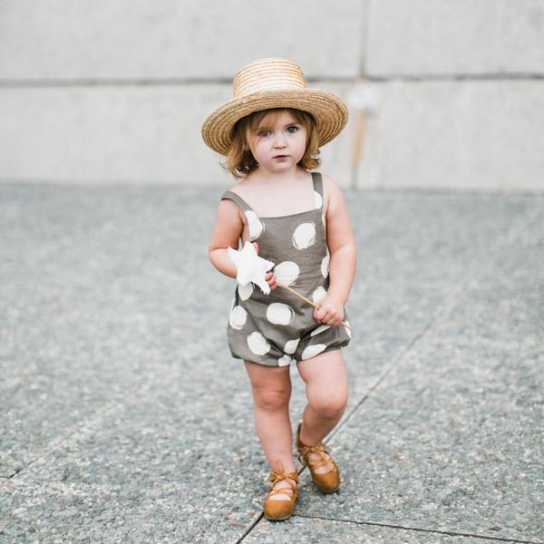 Kid's Rylee & Cru Dots Criss Cross Romper