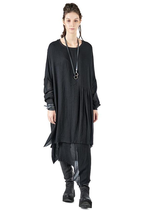 Studio B3 Joella Oversized Asymmetric Dress - Black