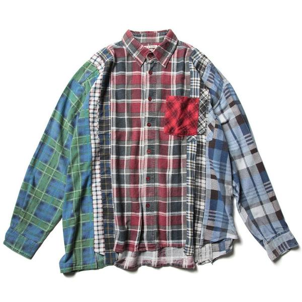 Flannel Shirt - 7 Cuts Wide Shirt 'Assorted'