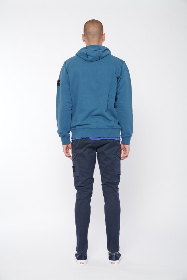 Stone Island Garment Dyed Hoodie - Cobalt Blue