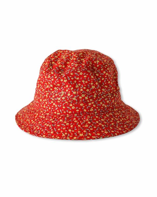 Corridor Bucket Hat - Red Micro Floral