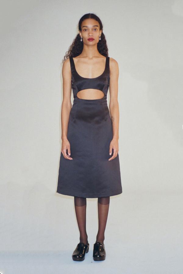 Sandy Liang Jodamo Dress - Noir Satin