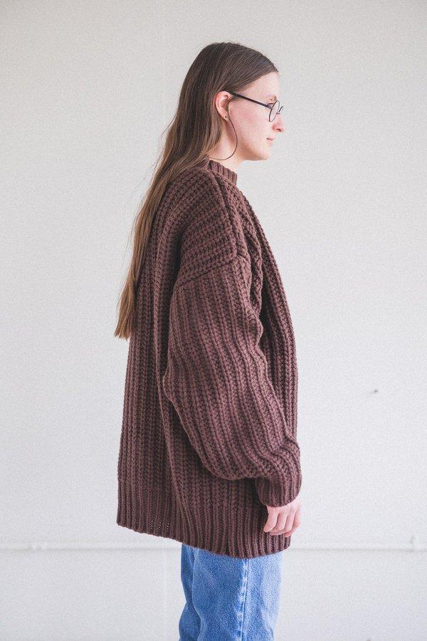 Baserange Mea Merino Wool Sweater - Castagna