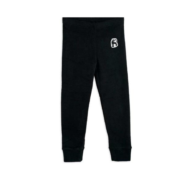 Kids Mini Rodini Microfleece Trousers - Black