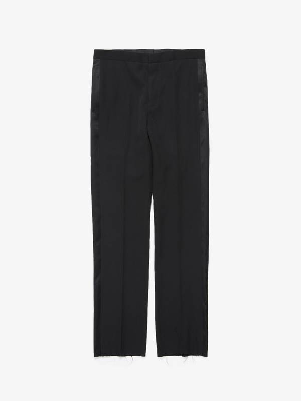 [Pre - Loved] Givenchy  Silk Sideline Classic Suit Wool Trousers - Black