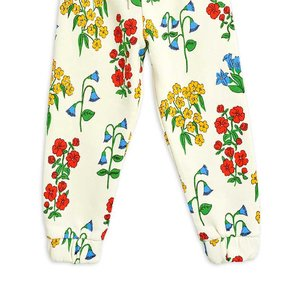 Kids Mini Rodini Snow Flowers Sweatpants - Off White