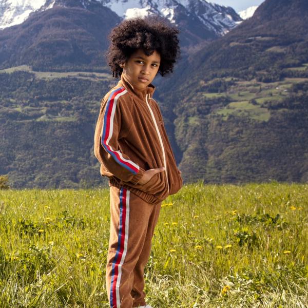 kids Mini Rodini Terry Trousers - Brown