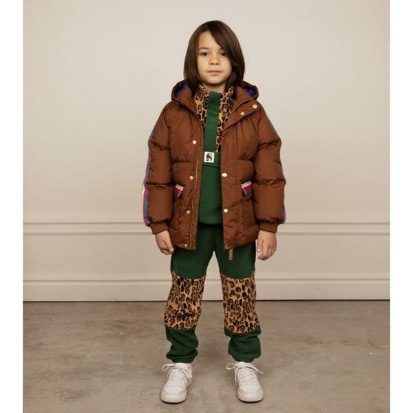 kids mini rodini fleece zip pullover - green