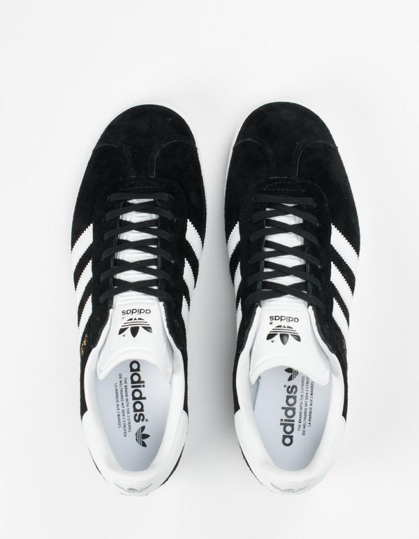 adidas Gazelle Core Black White Gold   Garmentory d50ff1f4df