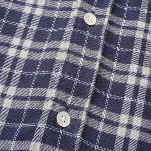 Portuguese Flannel Apotec Check Plaid Flannel Shirt - Navy