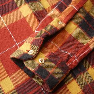 Portuguese Flannel Baviera Plaid Flannel Shirt - Red/Yellow/Brown