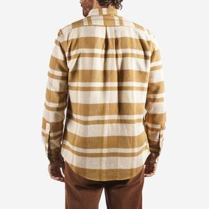 Portuguese Flannel Bonefire Stripe Flannel Shirt - Camel/Mustard