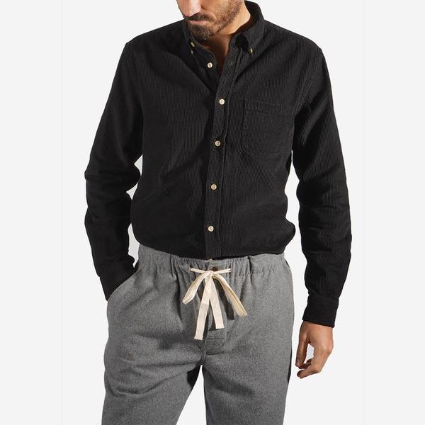 Portuguese Flannel Lobo Corduroy Shirt - Black