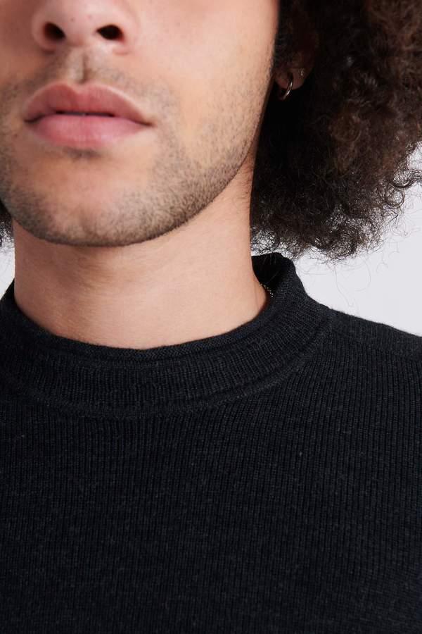 Stone Island 560C2 Full Rib Wool Crew Neck Knit Sweater - Charcoal