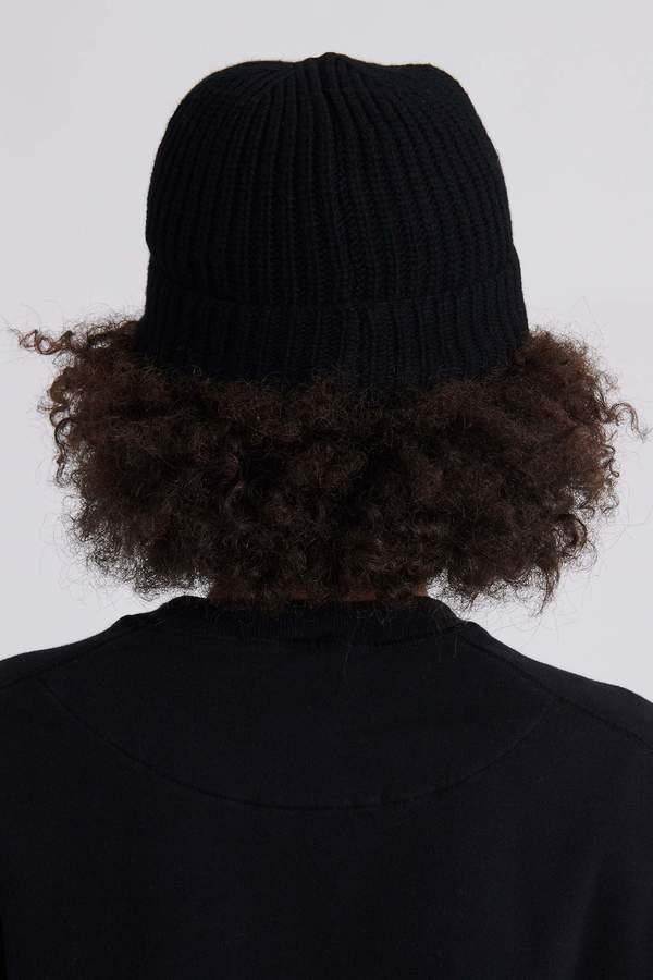Stone Island N10B5 Geelong Wool Knit Hat - Black