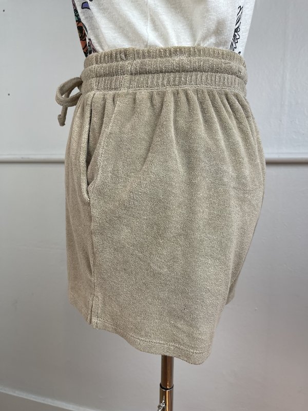 DONNI. Tan Terry Shorts (S)