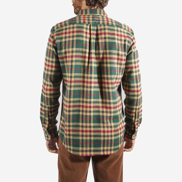 Portuguese Flannel Melgaco Plaid Flannel Shirt - Green/Yellow/Red
