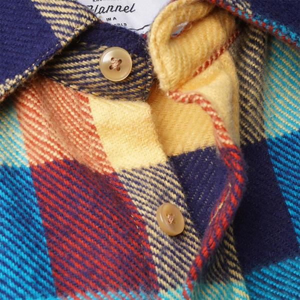 Portuguese Flannel Performance Check Flannel Shirt - Teal/Red