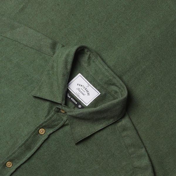 Portuguese Flannel Teca Flannel Shirt - Moss Green