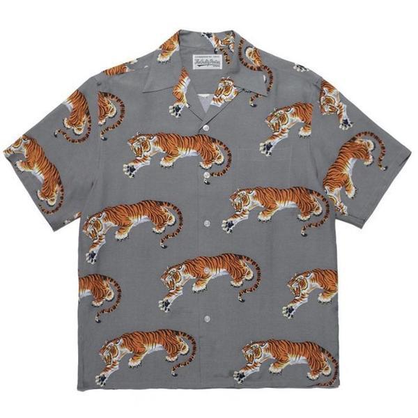 Tim Lehi - S/S Hawaiian Shirt 'Gray'