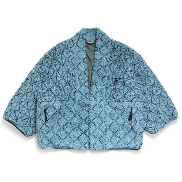 Do-Gi Sashiko BOA Fleece Kesa Jacket 'Blue'